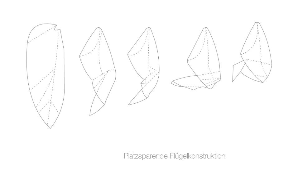Platzsparende Flügelkonstruktion Bionik Design
